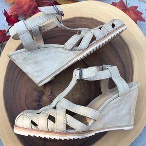 Frye Woven Basket Wedges